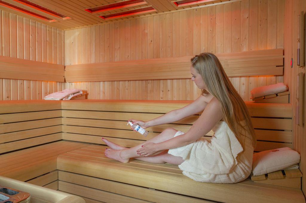 Magnesium olie gebruik in de sauna